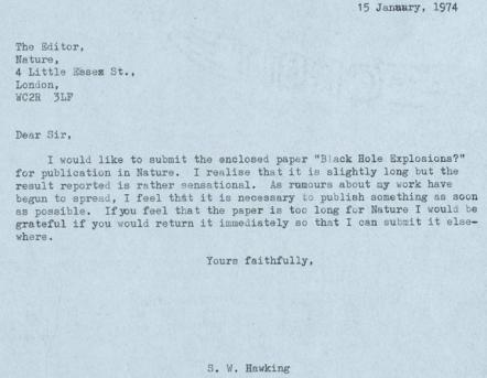 Hawking letter